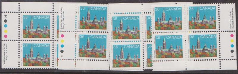 Canada - 1987 36c Parliament HP MS Imp. Blocks mint #926B VF-NH