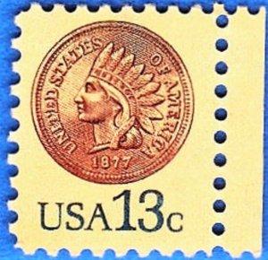 USA  SCOTT #1734 **MNH**   13c  1978   INDIAN HEAD PENNY