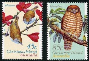 Christmas Island Scott 399-400 MNHOG - 1996 Birds Set -  SCV $3.25