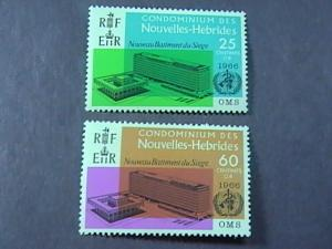 NEW HEBRIDES(FRENCH) # 134-135-MINT NEVER/HINGED------COMPLETE SET-------1966