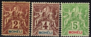 Moheli #2-4 Unused CV $14.00 (X5372)