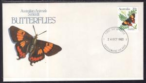 Australia 875A Butterfly U/A FDC