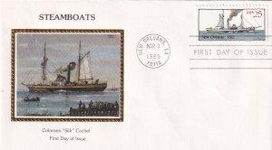 1989, Steamboats-New Orleans-1812, Colorano Silk, FDC (E12208)