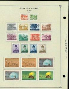 West Irian (Indonesia - irian Barat) M & CTO Hinged on Scott International Pages