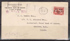 Newfoundland #C3 XF Used On Cover To Halifax With Royal Bank Of Canada Card