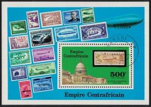 Central African Empire 'Graf Zeppelin' Flights MS 1977 CTO SG#MS514