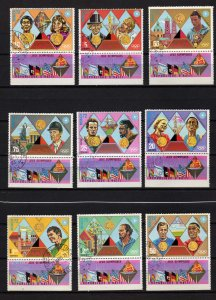 Lot Collection Haiti Olympic Sports Munich 1972 with Tabs Used CTO