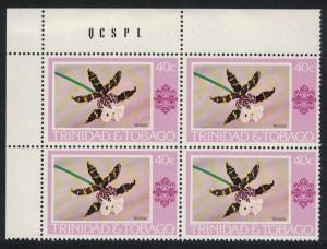 Trinidad and Tobago 'Miltassia' Orchid 1v 40c Corner Block of 4 SG#489
