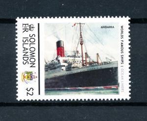 [90571] Solomon Islands  Ships Andania Ocean Liners Cunard Line  MNH