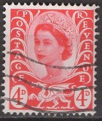 Great Britain, Region, Wales; 1969: Sc. # 10: O/Used Single Stamp