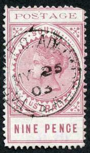 South Australia SG273 Thin postage fine used