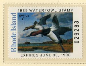 US RI1 RHODE ISLAND STATE DUCK STAMP 1989 MNH SCV $12.00 BIN $6.00