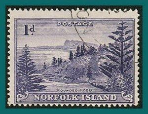 Norfolk Island 1947 Ball Bay, used  #2,SG2