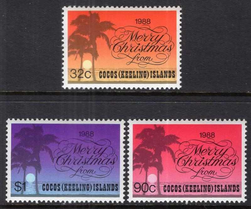 Cocos Keeling Islands 200-202 Christmas MNH VF