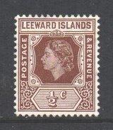 Leeward Is Scott 133 - SG126, 1954 Elizabeth II 1/2c MH*