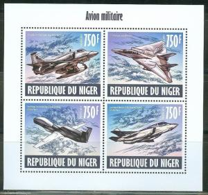 NIGER 2013 MILITARY AIRPLANES  SHEET  MINT NH