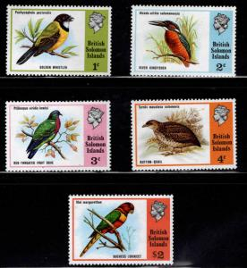 British Solomon Islands Scott 280-284 MNH** Bird stamp set