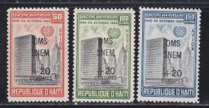 Haiti # B221, CB35-36, Malaria Overprints, Mint NH, Half Cat
