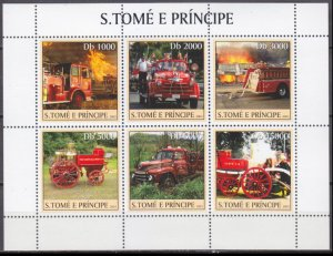 2003 Sao Tome and Principe 2271-76KL Cars / historic fire engines 11,00 €