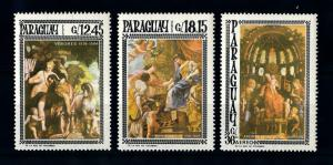 [72408] Paraguay 1966 Paintings Verones Vouet Airmail Stamps MNH