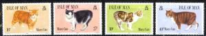 Isle of Man Sc# 380-383 MNH 1989 Manx Cats