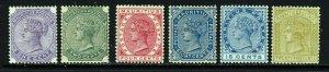 MAURITIUS QV 1883-94 A Watermark Crown CA Part Set SG 101 to SG 110 MINT