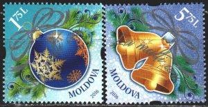 Moldova. 2016. 986-87. Christmas. MNH.