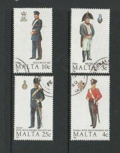 Malta 1989 Uniforms VFU/CTO SG 851/4