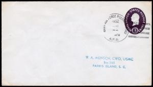 United States Scott U534c Die 3 Stamped Envelope (1950) Used VF B