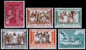 Vatican City Scott 282, 284-286, 290, 304 (1960-61) Mint/Used LH VF B