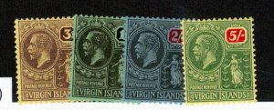 Virgin Islands #49 - #52 Very Fine Mint Lightly Hinged Set