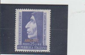 Trieste  Scott#  153  MH  (1952 Overprinted)