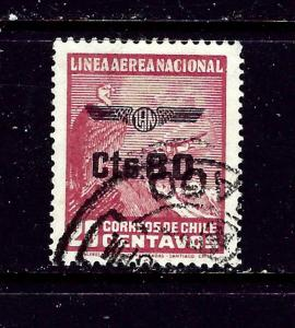 Chile C51 Used 1940 overprint