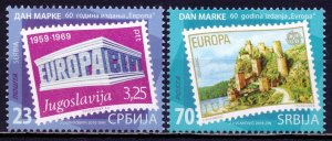 Serbia. 2016. Stamps on stamps, Europe. MNH.