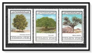Yemen People's Republic #258-260 Trees Set MNH