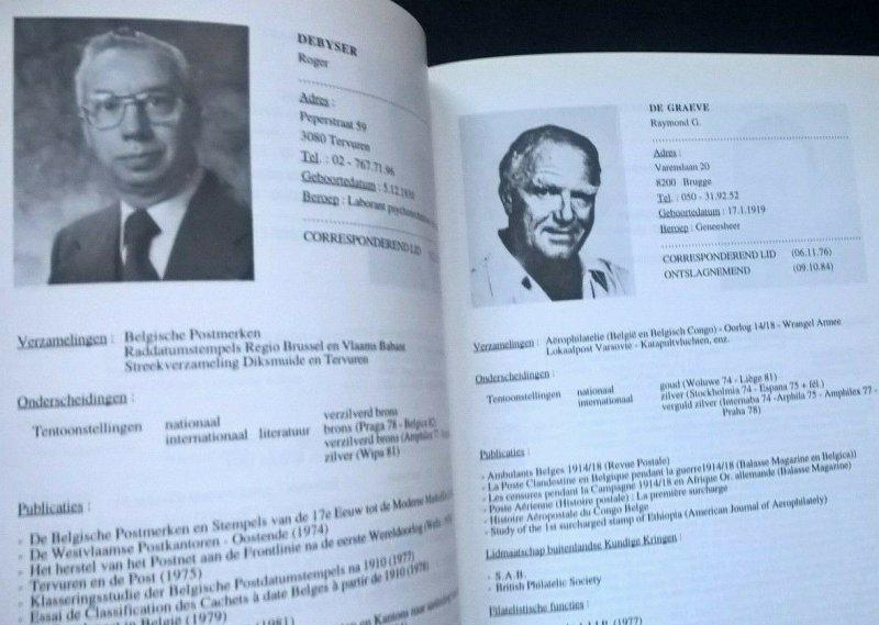 BELGISCHE AKADEMIE VOOR FILATELIE 1966-96 L'ACADEMIE DE PHILATELIE DE BELGIQUE