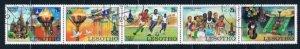 Lesotho 295a Used strip of 5 Olympics 1980 (MV0138)