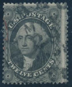 #36 12c 1857 AVERAGE - FINE USED CV $300 AU727