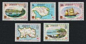 Jersey MNH 190-4 Jersey's Link With Canada Maps 1978