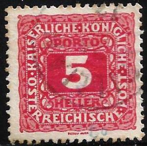 Austria 1916 Postage Due Scott# J49 Used