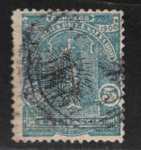 El Salvador Scott 273 Used surcharged stamp
