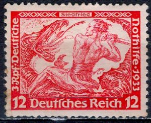 Germany; 1933: Sc. # B54: */MH Single Stamp