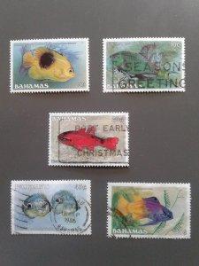 Bahamas 604-605,607,611-612 F-VF used. Scott $ 5.40