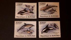 Burundi 2011. - Marine life - Dolphins ** MNH complete set (perforated)