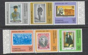 Turkey 2188-93 MNH 1981 Kemal Ataturk (ap7279)