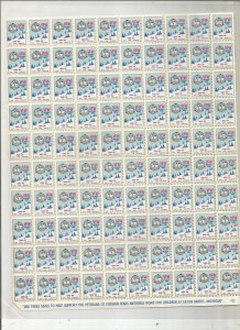 VFW 1965-1966 POSTER STAMPS, FULL SHEET