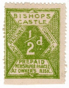 (I.B) Bishop's Castle Railway : Newspaper Parcel ½d
