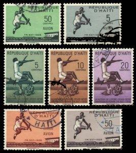 Haiti Scott 421-423, C115-C118 Used.