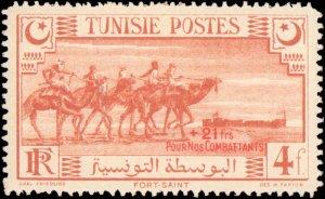 Tunisia #B80-B83, Complete Set(4), 1945, Hinged