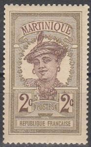 Martinique #63 F-VF Unused (V3313)